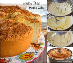 Million Dollar Pound Cake ***Very tasty cake with a good almond & vanilla flavor. I'd make this one again and maybe add a glaze, browned butter or something simple. #poundcakerecipes