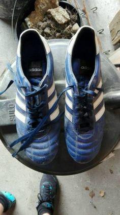 Hallo ich verkaufe meine Fußballschuhe adidas Kaiser 5 in blau die Größe ist UK 9,5 Größe 44 die...,ADIDAS Kaiser 5 Fussballschuhe gr. 44 in Köln - Rath-Heumar