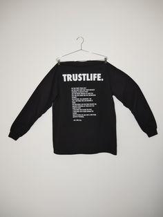 Trust Life Long Sleeve — #TheLongText Staple Pieces, Adidas Jacket, Trust, Long Sleeve, How To Wear, Shirts, Life, Shirt, Top