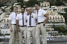 Grooms Men - Linen Wedding Suits, Beach Wedding, Positano Italy