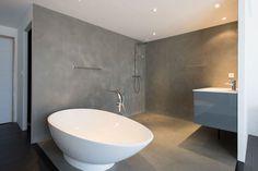 Intonaco decorativo / da pavimento / a base di cemento / aspetto calcestruzzo cerato   ROUVIERE