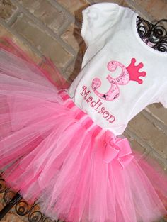 Pink Cowgirl Princess Birthday Tutu Outfit by TickleMyTutu on Etsy, $40.95