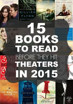 If you are looking for a good book to read, check out this AWESOME list of 15 Books Becoming Movies in 2015.
