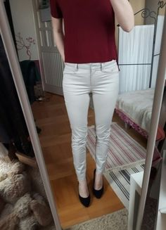 Kup mój przedmiot na #vintedpl http://www.vinted.pl/damska-odziez/rurki/12525298-cygaretki-mango-suit-beige-zip
