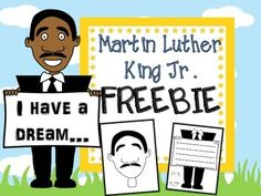 Enjoy this FREE Martin Lucther King Jr. craft!  No prep - just copy and your ready to go.