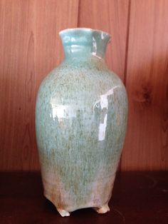 Brown with Robins egg blue glaze