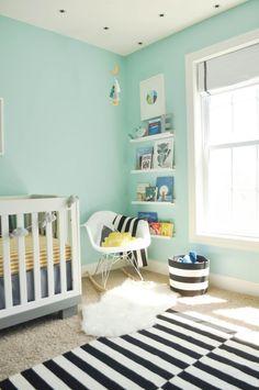 Chambre bébé garçon vert menthe