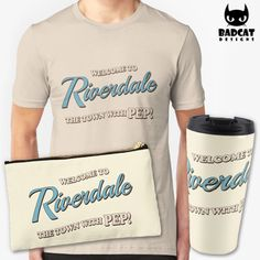 'Welcome To Riverdale – The Town With Pep!' design inspired by the new American teen drama television series based on the characters by Archie Comics: 'Riverdale'. #Riverdale #TShirt #Tee #Mug