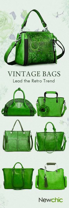 Green - Vintage Leather women's bags - http://newchic.com/fashion-collection/1983.html