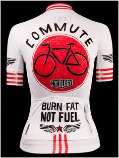 Burn Fat Not Fuel - Cool new cycling jersey from Cycology. All Italian fabrication. FREE SHIPPING WORLDWIDE. #cycling #jerseys