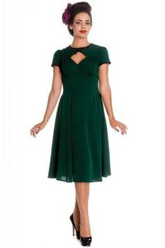Hellbunny Nell Dress Green