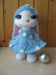 PATTERN: Bunny in Blue crochet and knitting pattern – Amigurumi Free Pattern İdeas. Knitted Bunnies, Crochet Bunny, Crochet Dolls Free Patterns, Knitting Patterns, Color Tag, Pattern Images, Star Patterns, Sewing Techniques, Knitting Designs