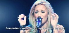 somewhere we went wrong we were once so strong