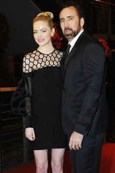 Emma Stone Takes The Croods to Berlin With Nicolas Cage: Emma Stone wore a Gucci dress at the Berlin International Film Festival premiere of The Croods with Nicholas Cage.  : Emma Stone wore Stella McCartney at The Croods photocall in Berlin.  : Emma Stone donned a black Gucci dress to hit the red carpet at the Berlin Film Festival premiere of The Croods with costar Nicholas Cage.