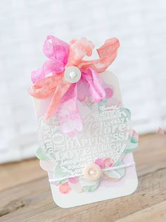 Gift Tag Days - Tag One - Candy Colors and Embossed Layers - Paper Girl Crafts