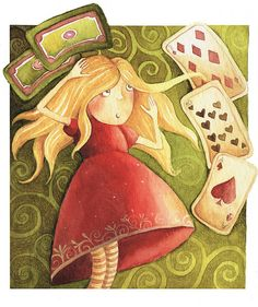 Illustration by Gosia Mosz for Alice in Wonderland, via Flickr