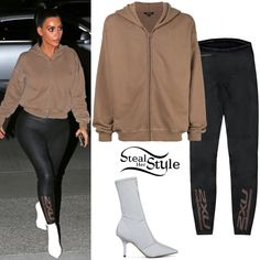 Kardashian Style, Kardashian Fashion, Kardashian Jenner, Kylie Jenner, Simple Outfits, Cute Outfits, Lace Up Leggings, Tights, Outfits