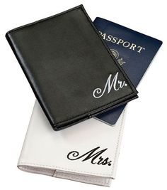 709fbf02a Mr. and Mrs. Honeymoon Passport Cover Gift Set