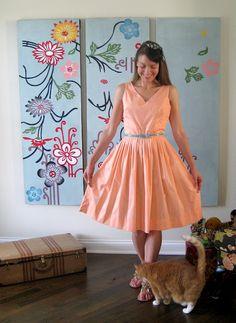 Peachy vintage dress