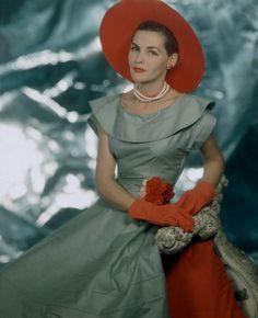 Georgia Hamilton 1949 #40sfashion #georgiahamilton #1940s