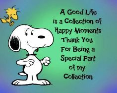 Snoopy thanks everyone .