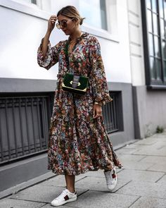 15 Langarm Kleider für den Herbst - Outfit ideas for ageless style - Mode Fashion Mode, Look Fashion, Street Fashion, Womens Fashion, Fashion Trends, Trendy Fashion, Fashion Ideas, Fashion Fall, Fashion Tips