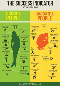 MaryEllen Tribby: The Success Indicator (Successful People Vs Unsuccessful People)