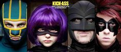 Kick-Ass, Hit Girl, Big Daddy and Red Mist