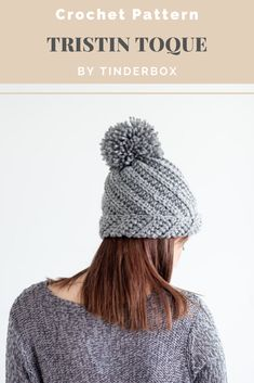 A twist on your classic crocheted ribbed pom pom beanie hat pattern. Perfect to make for Christmas gifts or sell at craft shows. Made to fit an adult woman but easily adjustable for other sizes. Crochet Winter Hats, Crochet Fall, Pom Pom Beanie Hat, Fur Pom Pom, Crochet Designs, Crochet Patterns, Ribbed Crochet, Beautiful Crochet, Crochet Stitches