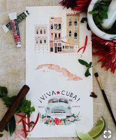 It's cold. Let's go to Havana. It's cold. Vinales, Varadero, Havanna Party, Trinidad, Cuba Wedding, Havana Nights Party, Cuban Party, Cuba Beaches, Travel Drawing