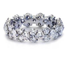 Garland Diamond Eternity Ring in Platinum #BlueNile #wedding #ring