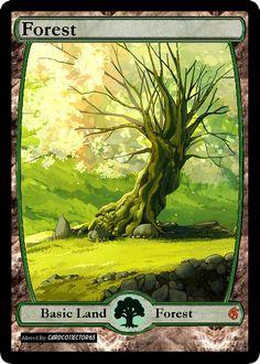 Zendikar style FOREST 1.3 MTG Dragons of Tarkir, M15, Magic Origins by cardco11ector65 on Etsy