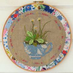Embroidery hoop | bustle & sew via Flickr