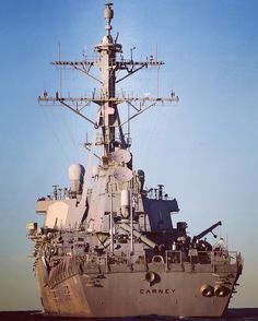 USS Carney is an Arleigh Burke-class guided-missile destroyer.  Destroyers (DDGs) can operate independently or as part of Carrier Strike Groups, Surface Action Groups, Amphibious Ready Groups and Underway Replenishment Groups. DDGs' combat capability centers around the Aegis Weapon System (AWS).
