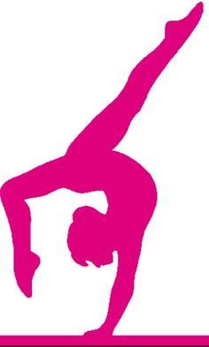 SIMPLE SILHOUETTE GYMNASTICS GIRL | gymnastics meet treat