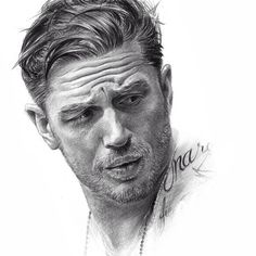 Pencil drawing of Tom Hardy -  @thomashardy_