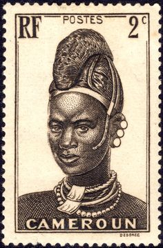 Stamps ©: Stamp of Cameroon, Africa [{Mandara Woman}]. Old Stamps, Rare Stamps, Vintage Stamps, Postage Stamp Art, Stamp Catalogue, Mail Art, Stamp Collecting, African Art, My Stamp