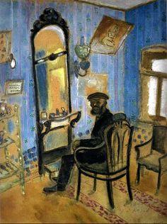 Marc Chagall. Barber's Shop