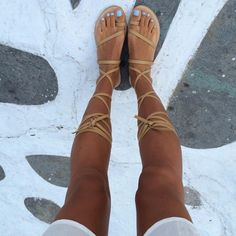 I rarely buy much on holidays but I couldn't resist a pair of handmade sandals from Capri