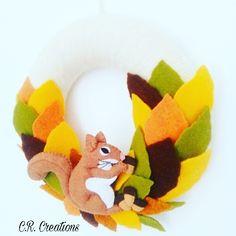 fuori porta autunnale #fuoriporta #outdoor #scoiattolo #esquilo #autunno #autumn #felt #crcreations #handmade