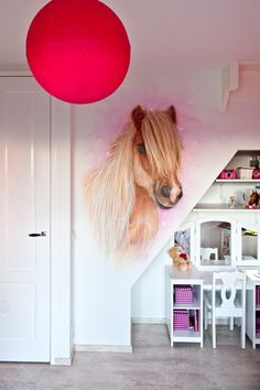 Dit is echt mooi. Horse Themed Bedrooms, Bedroom Themes, Small Room Bedroom, Girls Bedroom, Dream Rooms, Dream Bedroom, Home Decor Furniture, Cool Furniture, Cowgirl Room