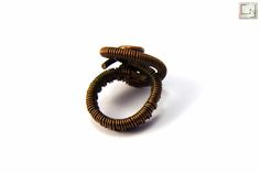 CNJoalharia Wire wrapped ring in copper.