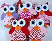 Valentine Owl Favor Boxes - Party Favors - Classroom Favors - Valentines Day - Classroom Valentine's - Set of 10 - LIMITED EDITION. $13.00, via Etsy.