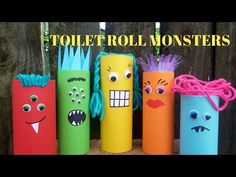 How to Make a Toilet Paper Roll Monster - Toilet Paper Roll Crafts - YouTube