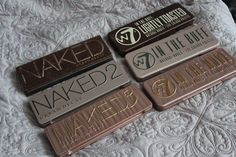 Makeup By Siham: Urban Decay Naked Palette 1,2 & 3 dupes ft. W7 eyeshadow palettes #CastorOilEyelashes