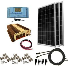 Complete 300 Watt Solar Panel Kit with 1500W VertaMax Power Inverter for 12 Volt Battery Systems *** Want to know more, click on the image. Note: It's an affiliate link to Amazon