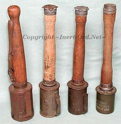 The Stielhandgranate - stick grenade - proved highly popular among German soldiers.  Some exploded on impact but most were set to detonate after either a 5.5 or 7 second delay.  German soldiers often carried such grenades in satchels thrown around their necks. This grenade could be hung from fences to prevent them from being climbed; any disturbance to the dangling grenade would cause it to fall and ignite the fuse. By 1916 German stick grenade production alone was eight million per month…