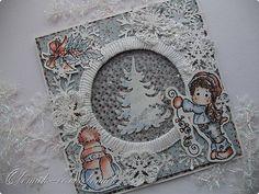 Новогодняя открытка-шейкер с Тильдой