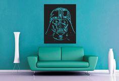 Darth Vader  Star Wars  Wall Vinyl by WallsOfText on Etsy, $21.95