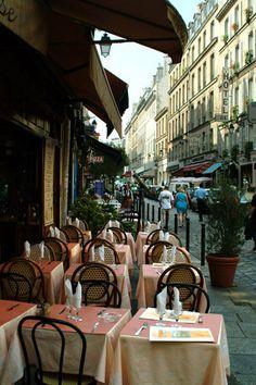 Cafe au lait... a graph paper journal... Paris to explore.